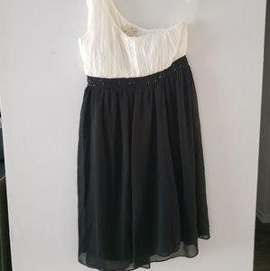 Twenty One Black & White Dress sheer Medium